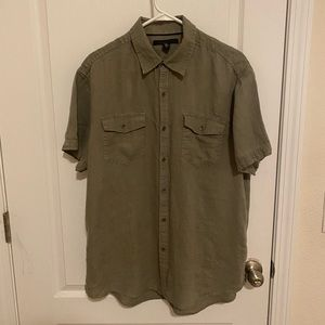 Kenneth Cole 100% linen button down